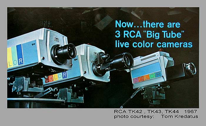 more rca tk 40 and tk 41 color tv cameras in action